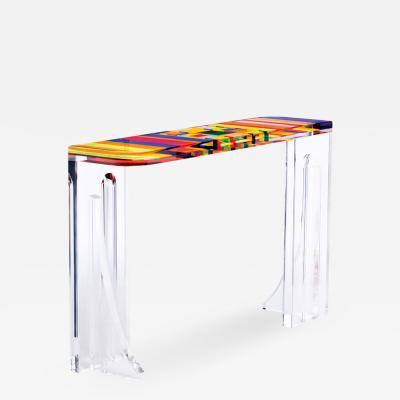 Acrylic Console Table Stumble
