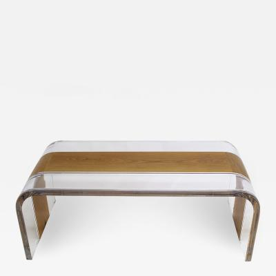 Acrylic and Wood Center Table Tiblisi
