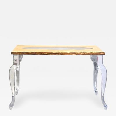 Acrylic and Wood Console Table Laguna