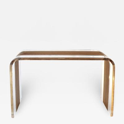 Acrylic and Wood Console Table Tiblisi