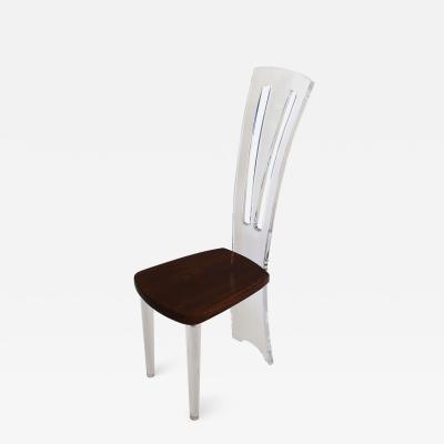 Acrylic and wood Chair Costantinopoli