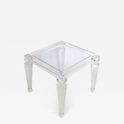 Acrylic side table Luigi XVI