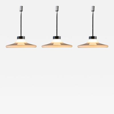 Adalberto Dal Lago Set of Three Murano Ceiling Lamps by Adalberto Dal Lago for Vistosi