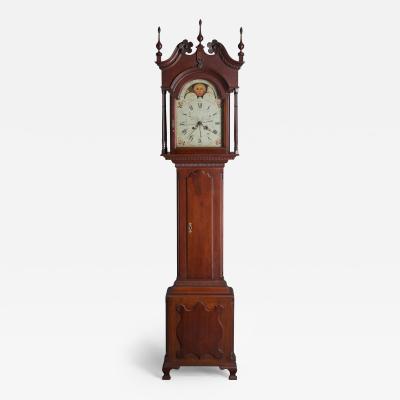 Adam Brandt An Adam Brandt Pennsylvania Eight Day Walnut Tall Case Clock