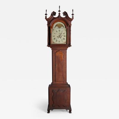 Adam Brandt An Unsigned Montgomery County Pennsylvania Cherry Tall Case Clock