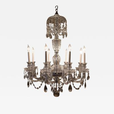 Adam Style Eight Light Crystal Chandelier