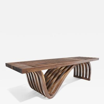 Adam Zimmerman Asymmetric Bench by Studio Craft Artist Adam Zimmerman 21st Century
