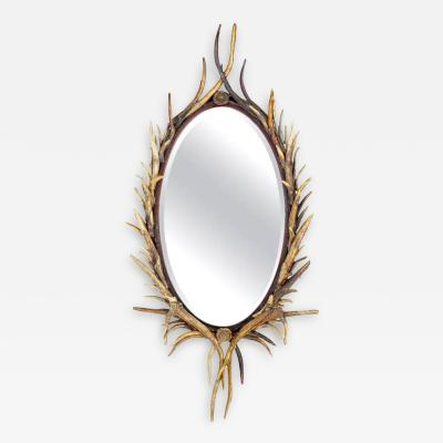 Adirondack Natural Antler Mirror
