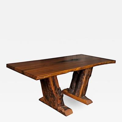 Adirondack Style Live Edge Walnut Console Center Table