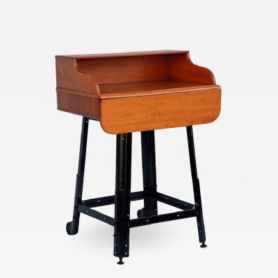 Adjustable Oak Writing Table or Desk