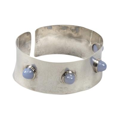 Ado Chale A Silver and blue tourmaline cuff band