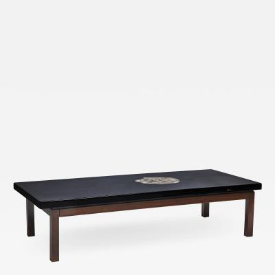 Ado Chale Table in black resin by Ado Chale