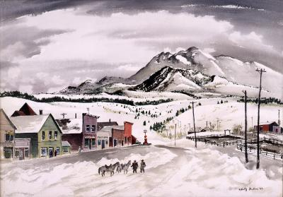 Adolf Arthur Dehn Mining Town Winter Colorado