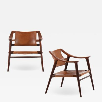 Adolf Relling Easy Chairs Model 56 2 Bambi Produced by Gustav Bahus