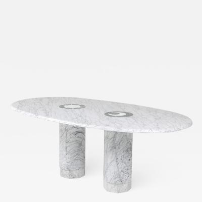 Adolfo Natalini Sun Moon Marble Dining Table by Adolfo Natalini for Up Up 1990s