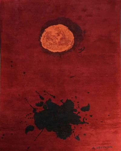 Adolph Gottlieb Exclusive Wool rug after Adolph Gottlieb Burst