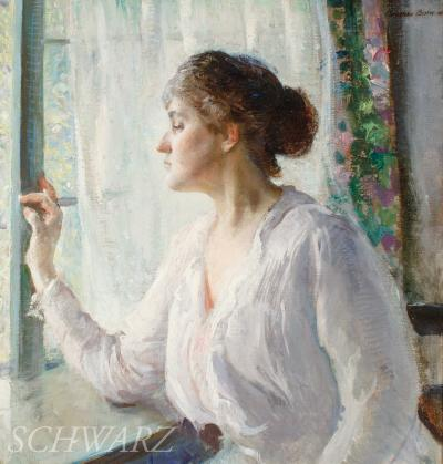 Adolphe Borie At the Window