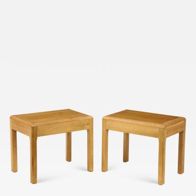 Adolphe Chanaux Rare Adolphe Chanaux Waxed Oak Occasional Tables