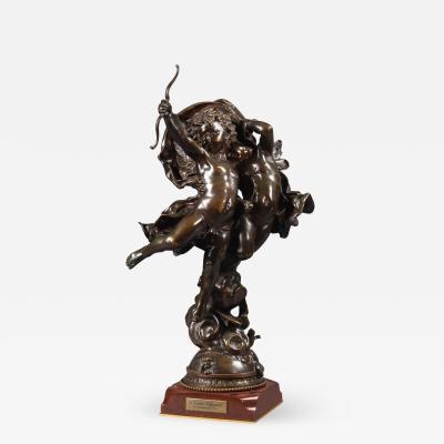 Adolphe Itasse L Amour Vainqueur A Bronze Figural Group
