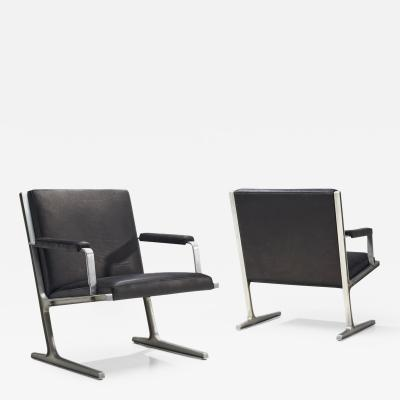 Adrian Heath Pair of Lufthavns Stole Chairs by Ditte Heath Adrian Heath for Cado DK 1969