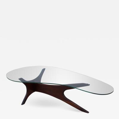 Adrian Pearsall Adrian Pearsall Kidney Shape Walnut Coffee Table