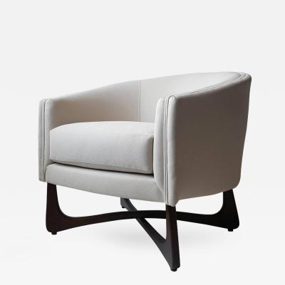 Adrian Pearsall Adrian Pearsall Lounge Chair with Sculptural Walnut Base