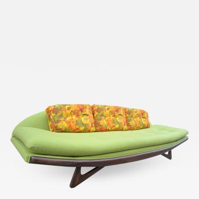 Adrian Pearsall Adrian Pearsall Sculptural Walnut Gondola Sofa Fully Restored Midcentury