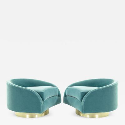 Adrian Pearsall Adrian Pearsall Swivel Cloud Lounges circa 1950s