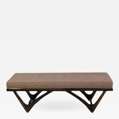 Adrian Pearsall Adrian Pearsall Upholstered Walnut Bench
