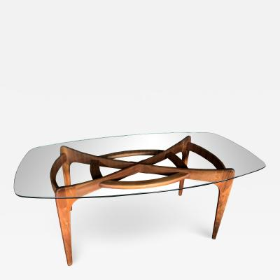 Adrian Pearsall Adrian Pearsall for Craft Associates Dining Table with Glass