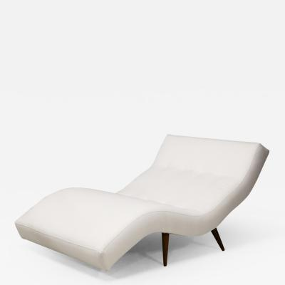 Adrian Pearsall Adrian Pearsall for Craft Associates Mid Century Modern Wave Chaise Lounge Chair