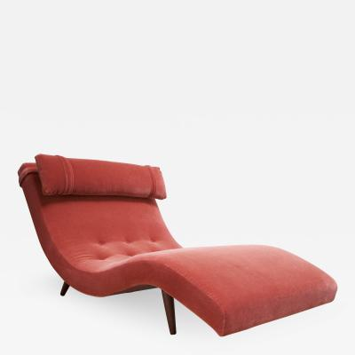 Adrian Pearsall Adrian Pearsall for Craft Associates Wave Chaise Lounge in Coral Mohair