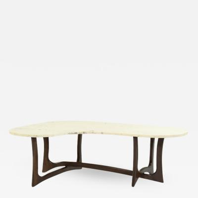 Adrian Pearsall Asymmetric Marble Top Coffee Table by Adrian Pearsall