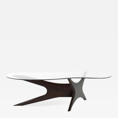 Adrian Pearsall Asymmetrical Walnut Cocktail Table by Adrian Pearsall