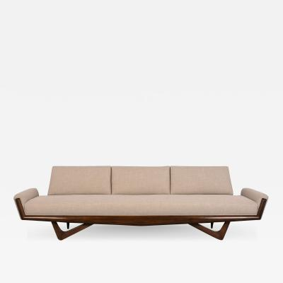 Adrian Pearsall Completely Restored Mid Century Adrian Pearsall Gondola Sofa