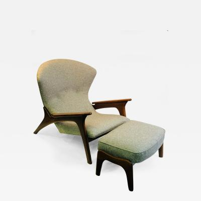 Adrian Pearsall Exceptional Adrian Pearsall Ottoman Chair