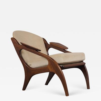 Adrian Pearsall Fully Restored Adrian Pearsall Craft Paddle Single Lounge Chair