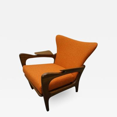 Adrian Pearsall Gorgeous Adrian Pearsall Sculptural Walnut Lounge Chair