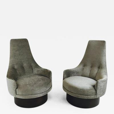 Adrian Pearsall High Back Swivel Chairs by Adrian Pearsall