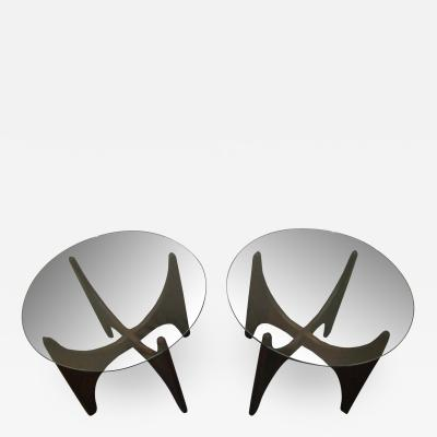Adrian Pearsall Lovely Pair of Sculptural Walnut Adrian Pearsall End Tables Mid Century Modern