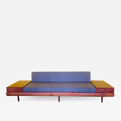 Adrian Pearsall MID CENTURY COUCH WITH ATTACHED END TABLES BY ADRIAN PEARSALL