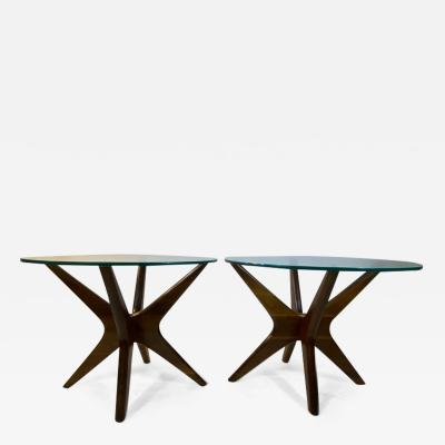Adrian Pearsall MID CENTURY PAIR OF JACK TABLES BY ADRIAN PEARSALL
