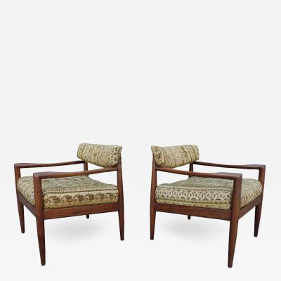 Adrian Pearsall Mid Century Adrian Pearsall Lounge Chairs Pair