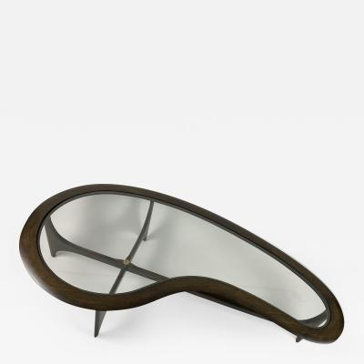 Adrian Pearsall Mid Century Kidney Shape Coffee Table by Adrian Pearsall Lane 1960s