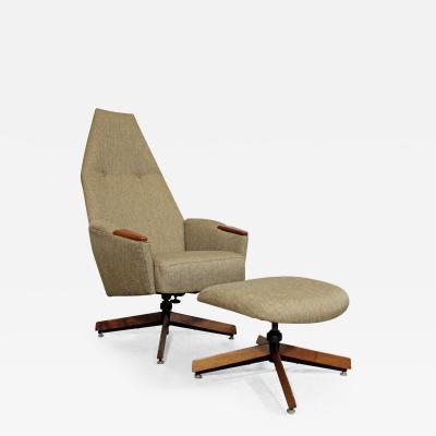 Adrian Pearsall Mid Century Modern Adrian Pearsall Lounge Chair 2174C Ottoman 2175O