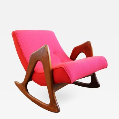 Adrian Pearsall Mid Century Modern Adrian Pearsall Sculptural Walnut Rocker Lounge Chair