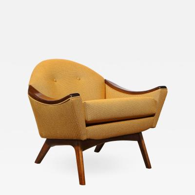 Adrian Pearsall Mid Century Modern Handrubbed Walnut Button Back Arm Chair by Adrian Pearsall