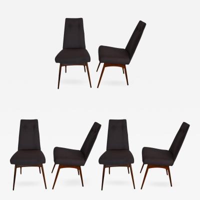 Adrian Pearsall Mid Century Modern Set of Six Walnut Dining Chairs