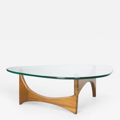 Adrian Pearsall Organic Walnut and Glass Coffee Table by Adrian Pearsall