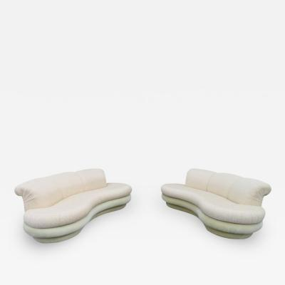Adrian Pearsall Pair Adrian Pearsall Kidney Shaped Curved Sofa Mid Century Modern